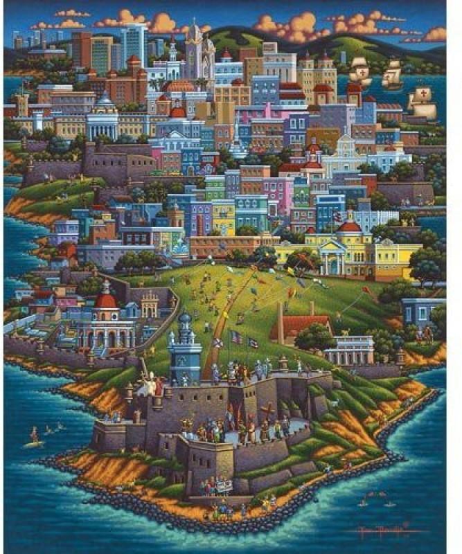 Dowdle Folk Art Puzzle - Puerto Rico 500 Pc