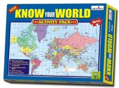 Creative Education Know Your World - An Activity Pack(100 Pieces)