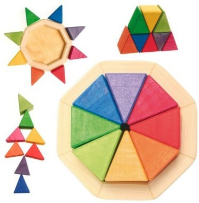 Grimm's Spiel and Holz Design Wooden Rainbow Puzzle