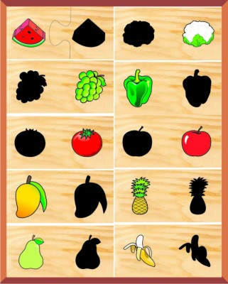 Kinder Creative Two Piece Puzzles - Shadow Matching