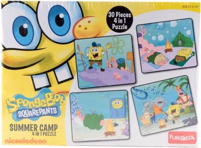 Funskool Sponge Bob 4-In-1 Puzzle Game