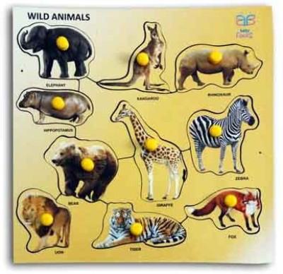 Luk Luck Educational Wooden Toy Wild Animals