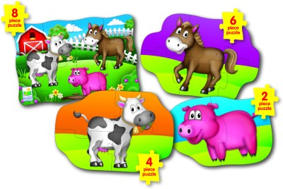 The Learning Journey Step Ups! 4-in-a-Box Puzzle Set - Farm