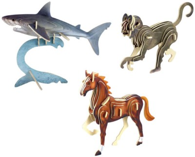 Robotime Color Animals - Pack of 3 (Shark::Monkey::Horse)