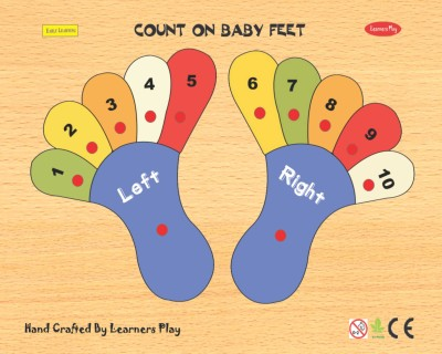 Learner's Play Counting on Baby Feet