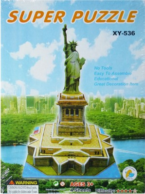 Hrinkar Junior Puzzles 3d Paper Statue Of Liberty Xy-536 Toy For Kids