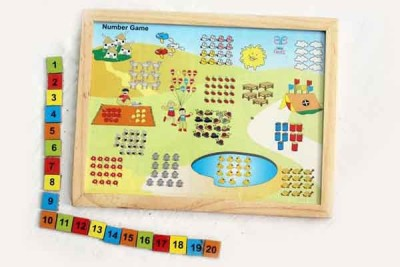Luk Luck Educational Wooden Toy Number Game