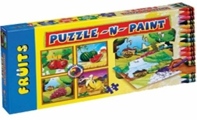 Sunny Puzzle N Paint Fruits