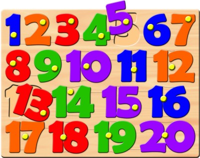 Prasima Toys Number Puzzle with Peg