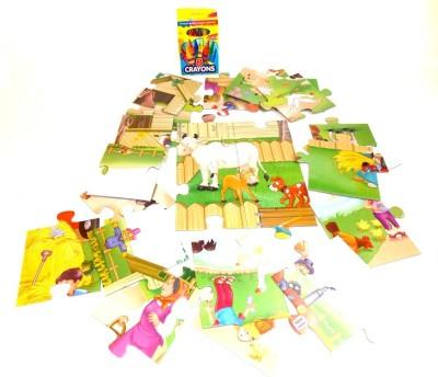 E-Toys On The Farm 24 Pieces Puzzle