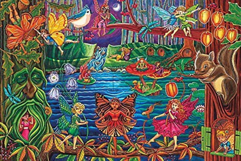 buy cobble hill fairy forest a floor puzzle by
