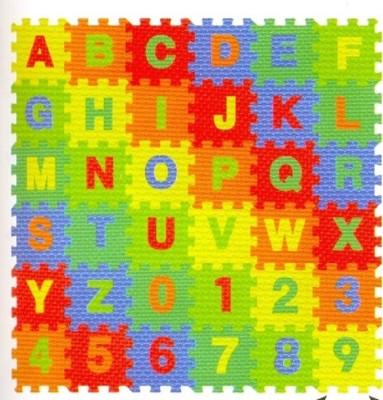 Kiddy 26Pcs Alphabet (A-Z) & 10Pcs Numbers (0-9) Puzzle Mat PMS-9014