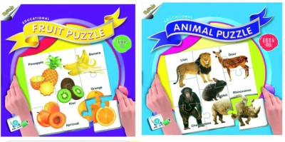 Ratnas Pack Of 2-Educational Fruit & Animal Puzzle