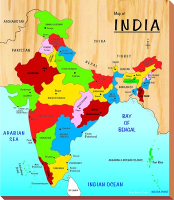 Kinder Creative Map of India