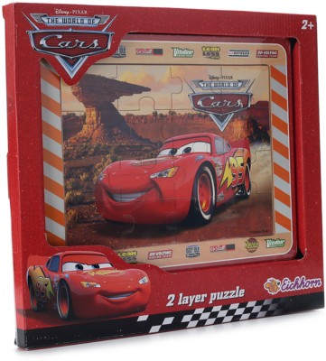 Eichhorn Cars Wooden 2 Layer Puzzle