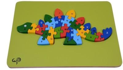 wood o plast Dinosauras Raised Puzzle With A-Z Alphabet