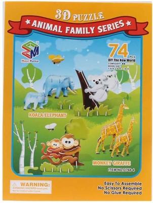 Magic Puzzle Animal Family Series 3D Puzzle