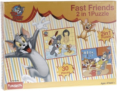 Funskool Tom & Jerry Fast Friends 2 in 1 Puzzle