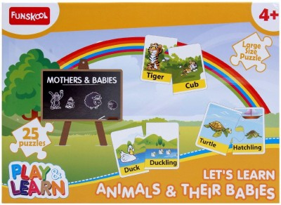 Funskool Puzzle Animals & Their Babies