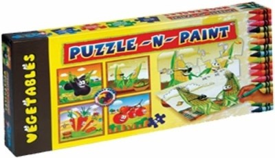 Sunny Puzzle N Paint Vegetables