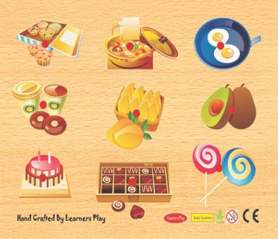 Learner's Play Food & Fun Knob Puzzle