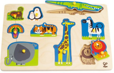 Hape Hape-Wild Animals Peg Puzzle