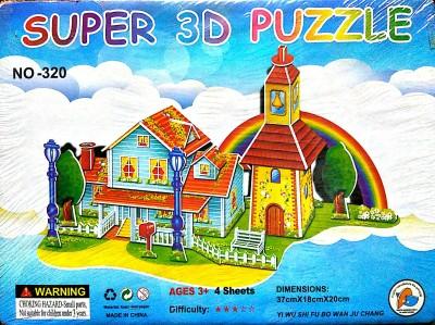 UniqueToys Super 3D Puzzle Bungalow Series