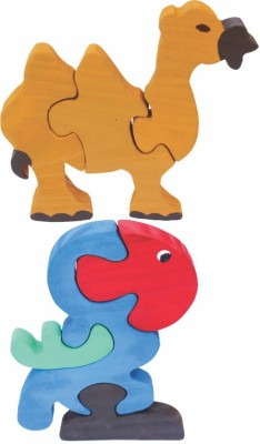 Enigmatic Woodworks Wooden Jigsaw Puzzle Camel + Parrot