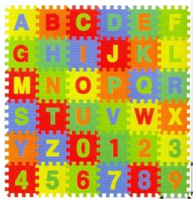 Kiddy 26Pcs Alphabet (A-Z) & 10Pcs Numbers(0-9) Puzzle Mat PMS-9012