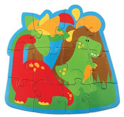 Stephen Joseph Inc Play And Color Puzzle - Dino