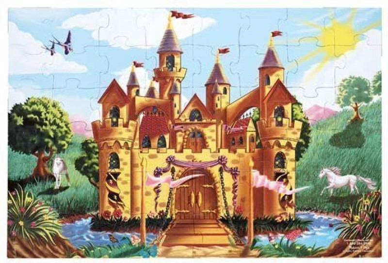 Melissa & Doug Melissa & Doug Fairy Tale Castle Floor Puzzle(48 Pieces)