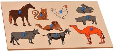 Kidken Montessori Insert Board Pet animals