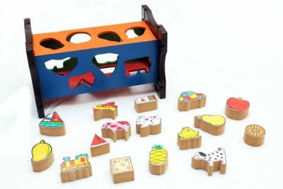 Luk Luck Educational Wooden Toy Shape Posting Challenge