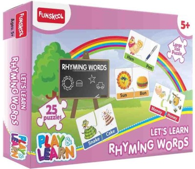 Funskool Funskool Multicoloured Play & Learn Rhyming Words Puzzle for Boys N Girls