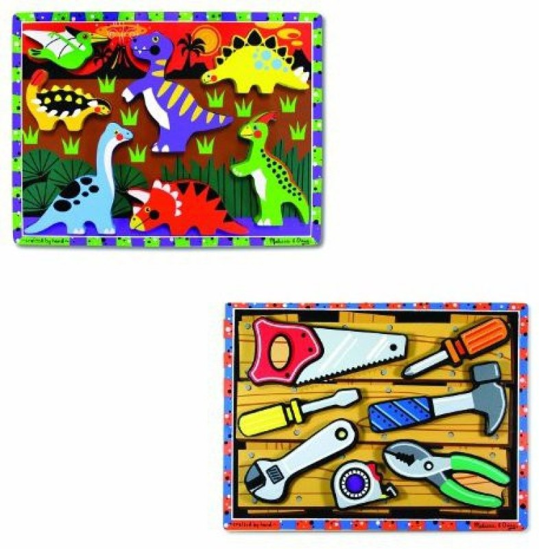 Melissa & Doug Chunky Bundle - Tools & Dinosaurs(1 Pieces)