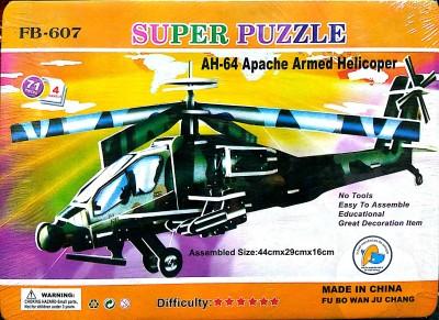 UniqueToys Super 3D Puzzle Apache Armed Helicopter