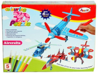 Annie Colouring 3D Puzzle - Aircraft