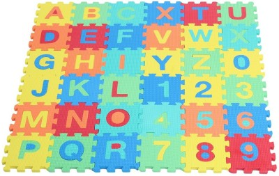 Kiddy 10Pcs Numbers (0-9) & 26Pcs Alphabet (A-Z) Puzzle Mat 2 In 1 PMS-9005