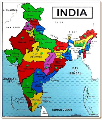 Tomafo Map-India (Large) with Knob