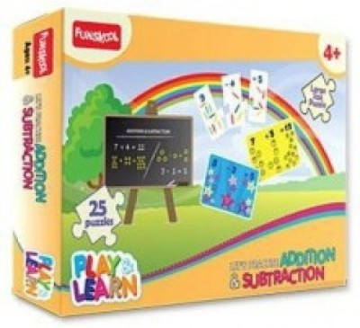 Funskool LETS PRACTISE ADITION AND SUBTRACTION PUZZLE - 9425100
