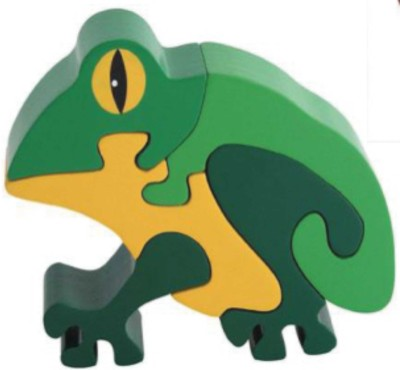 Learner's Play Frog Jigsaw Puzzle - Colored