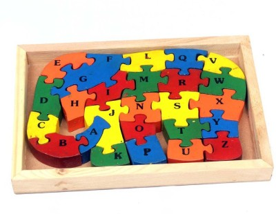 Luk Luck Educational Wooden Toy Elephant Puzzle