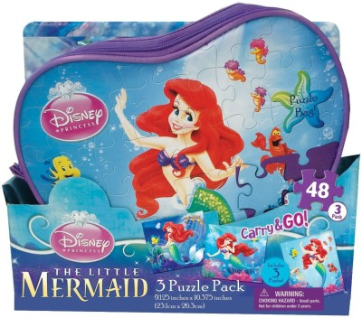Disney Disney Ariel Carry and Go Puzzle in Bags, 3-Pack
