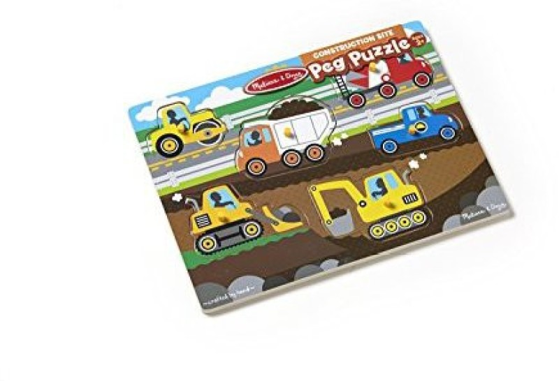Melissa & Doug Construction Site Peg 6 Pieces