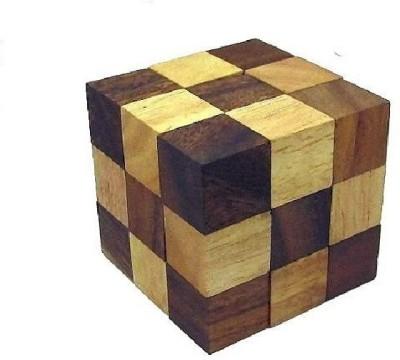 Crafts,man Snake Cube Jigsaw Wooden Brain Teaser, Gift Boxed ...