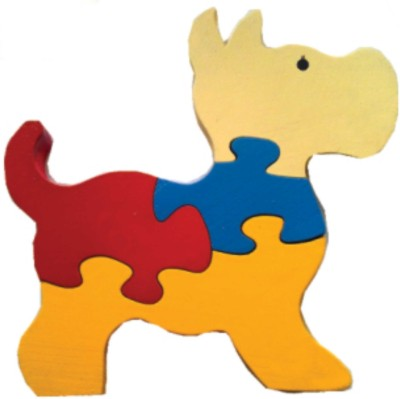 Learner's Play Dog Jigsaw Puzzle - Colored