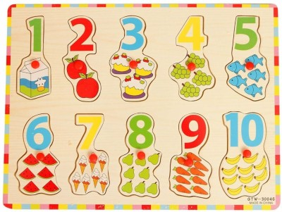 Ollington St. Collection Wooden Puzzle with Pegs - Numbers & Counting