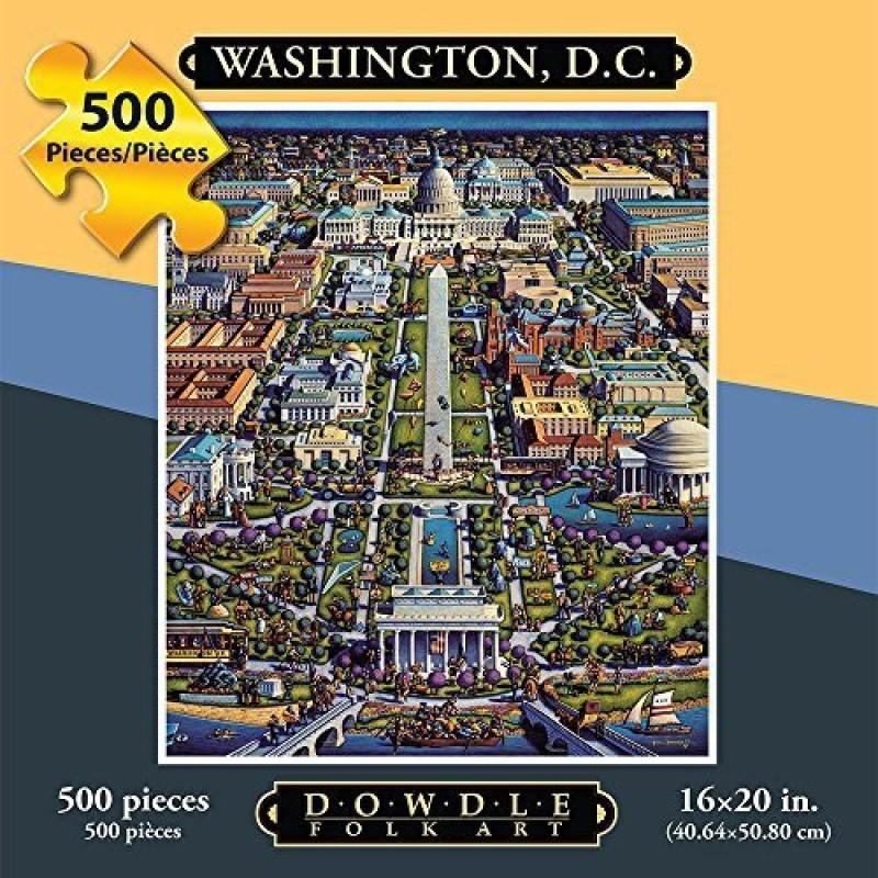 Dowdle Folk Art Puzzle - Washington DC 500 Pc
