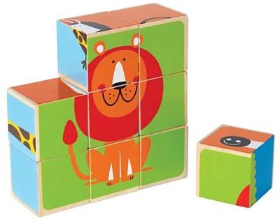 HAPE Wooden Zoo Animals Block Puzzle