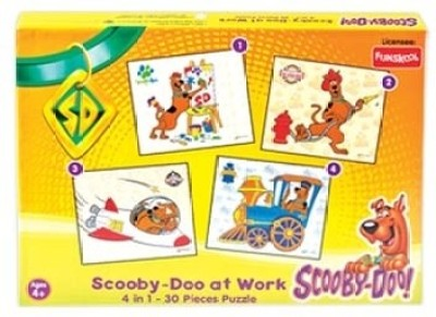 Funskool Scooby Doo 4 in 1 Puzzles ( Scooby Doo At Work)